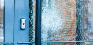 Shattered glass prevention with 3M security window films.