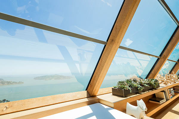 residential window film to reduce glare with a beautiful view.