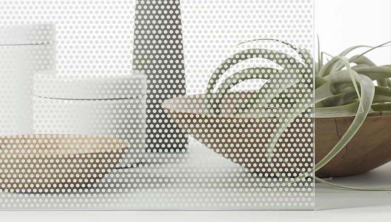 Sample of decorative window film.